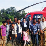 President of NRN Association, Bhaban Bhatta flies with Kailash Helicopter!