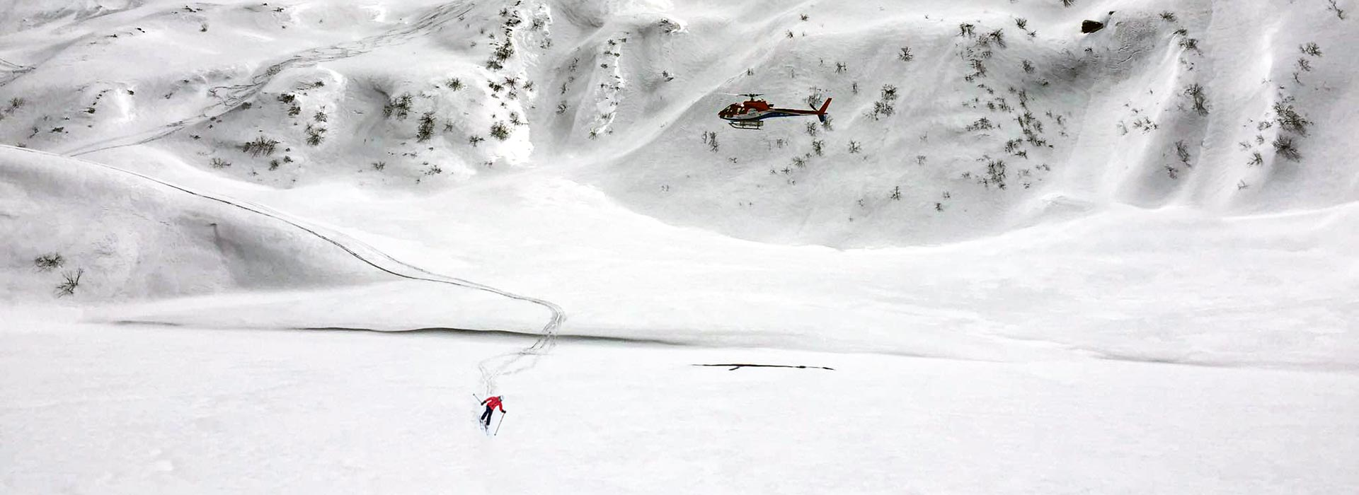 heli skiing in nepal with kailash helicopter