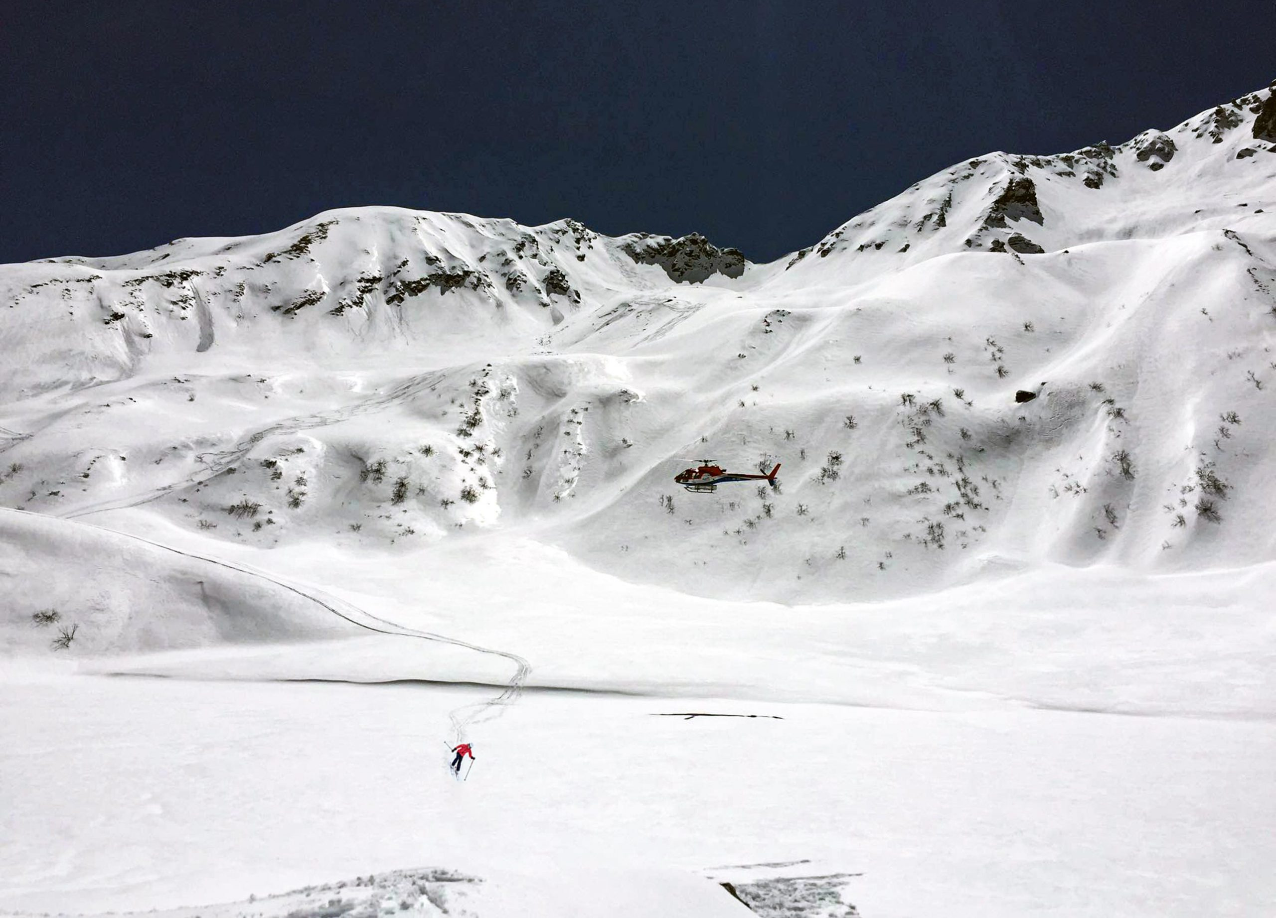 heli skiing in nepal